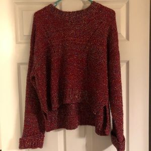 Sweaters - Verte boutique top size m/l red shimmer